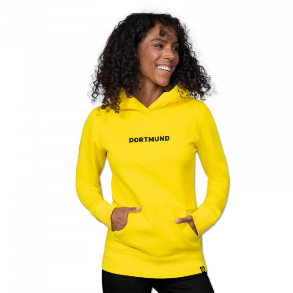 "BVB hooded sweatshirt ""Box Logo"" for women (yellow)"