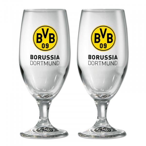 BVB Tulip Pilsner Beer Glass Emblem (2 glasses)