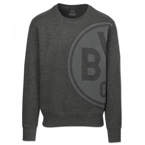 BVB Men's Sweatshirt, Basic+, anthra mel.