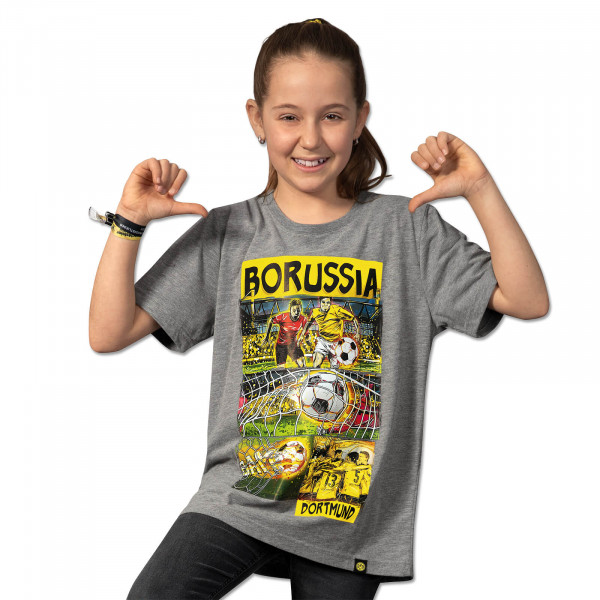 BVB MHMV Comic T-Shirt for Children Grey