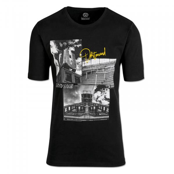BVB Cityscape T-shirt for Men, Black
