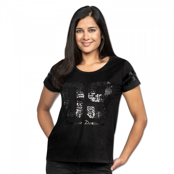 BVB-Casual T-Shirt for women sequins black