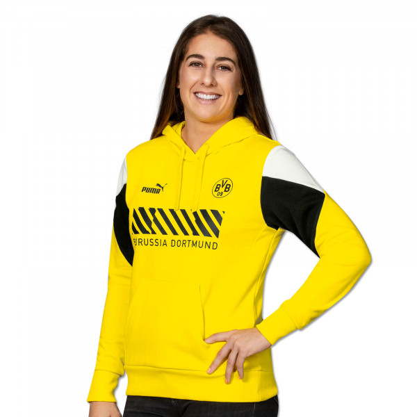 BVB Hoodie Ftbl Culture (Yellow) for Women