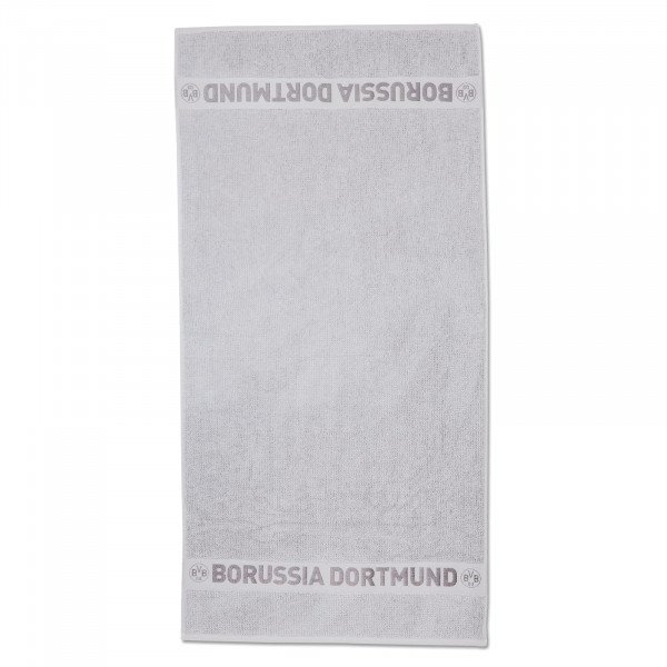 BVB shower towel with structure grey 70 x 140 cm
