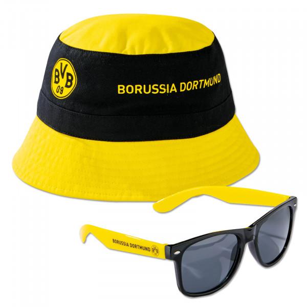 Bonnet de pêche et lunettes de soleil BVB-Set