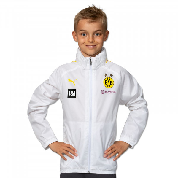 BVB Training Rain Jacket 21/22 (white) kids