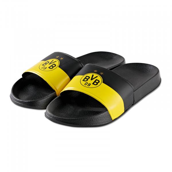 Pantoufles de bain BVB jaune et noir
