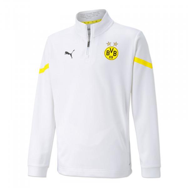 BVB Pre-Match Zip Shirt (White) for Kids
