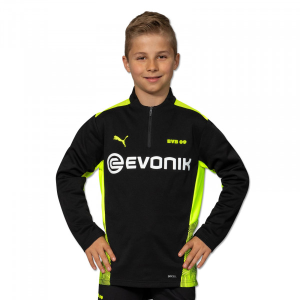 BVB training zip shirt 21/22 (black) for children