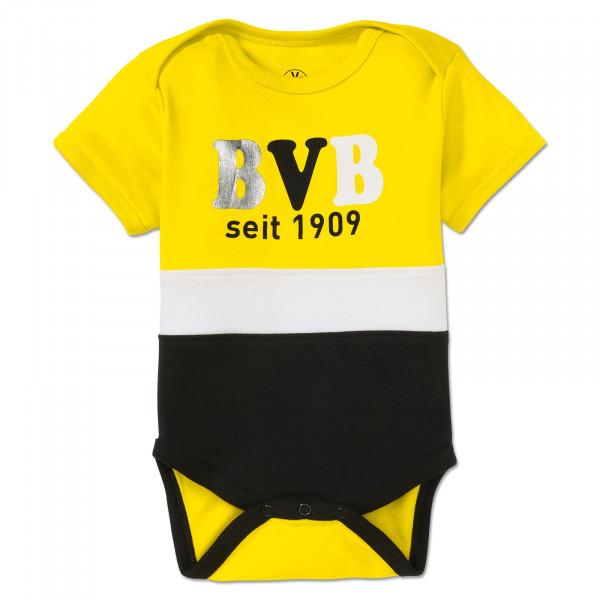 BVB Baby Bodysuit Block Yellow/White/Black