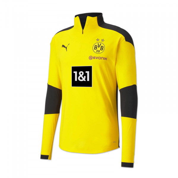 T-shirt d'entraînement à fermeture éclair BVB 20/21 pour enfants (jaune)