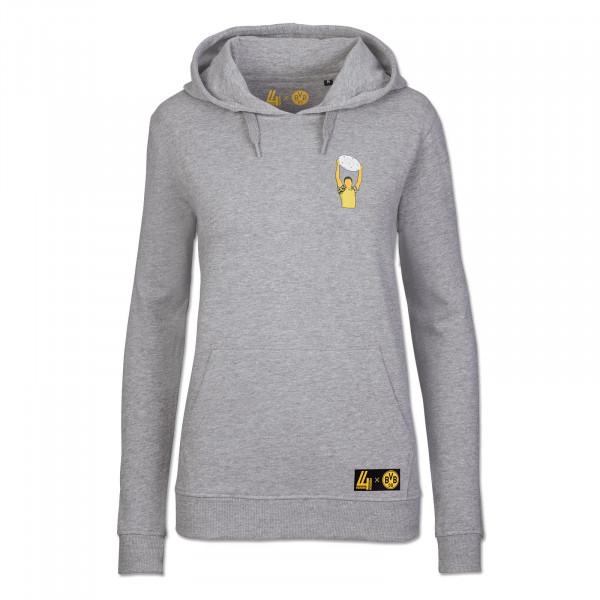 Sweater à capuche ZORC BVB-Vierundvierzich, pour femmes