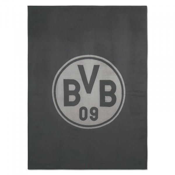 BVB Velour Blanket (150 x 200cm) anthracite