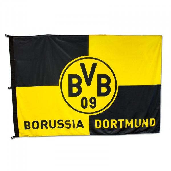BVB Hoistable Checked Flag (180x120cm)