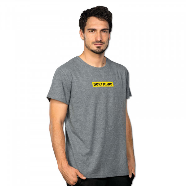 MEN'S BVB LOGO T-SHIRT GREY