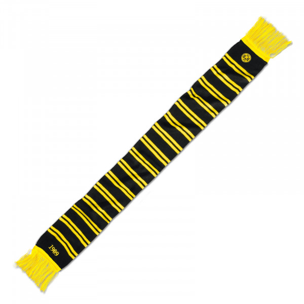 BVB scarf with stripes (black)