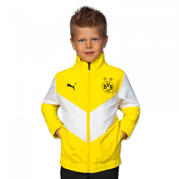 BVB Pre-Match Jacket (Yellow) for Kids