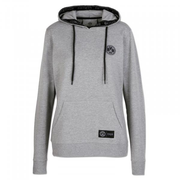 Sweater à capuche BVB DRTMND pour femmes, dégradé de gris
