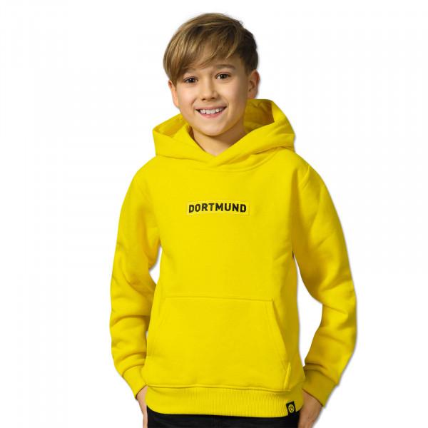 BVB BOX LOGO Hoodie for Kids Yellow