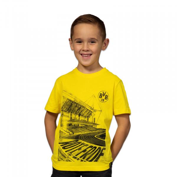 T-shirt BVB jaune, pour enfants