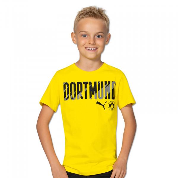 T-Shirt BVB Dortmund 20/21 pour enfants (jaune)