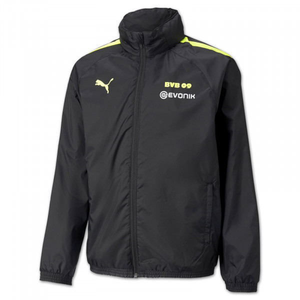 BVB training rain jacket 21/22 (black-neon) for children