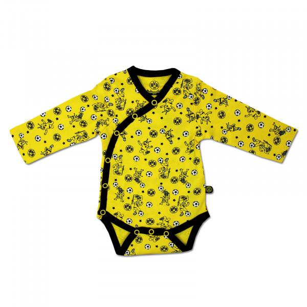 EMMA Wrapover Bodysuit Long Sleeve (Yellow)