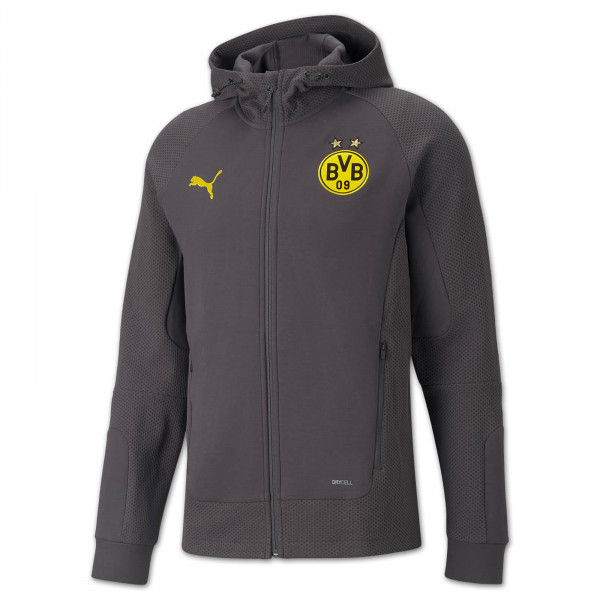BVB Casual Jacket w. hood 21/22 (asphalt)