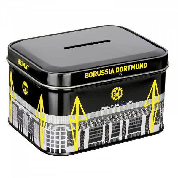 BVB metal coin bank