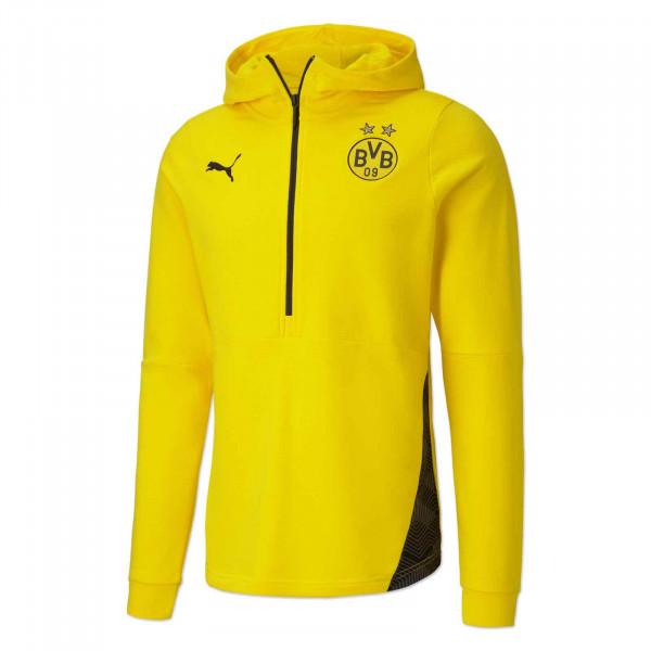 Sweat à capuche loisir du BVB 20/21 (jaune)