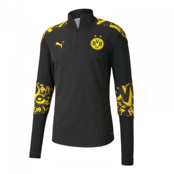 BVB Warm Up Zip Shirt 20/21 for Kids (Away)