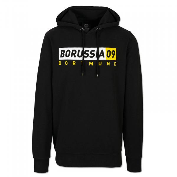 Sweat à capuche du BVB Borussia09, basique, pour hommes, noir