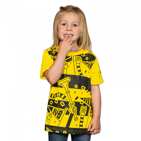BVB T-Shirt with Fans for Kids (Yellow)