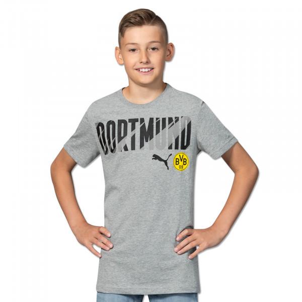 T-Shirt BVB Dortmund 20/21 pour enfants (gris)