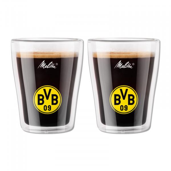 Verres à café BVB à double paroi (lot de 2)
