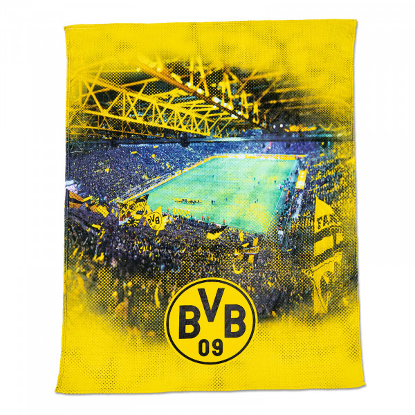 BVB fleece blanket with stadium print (150 x 200 cm)
