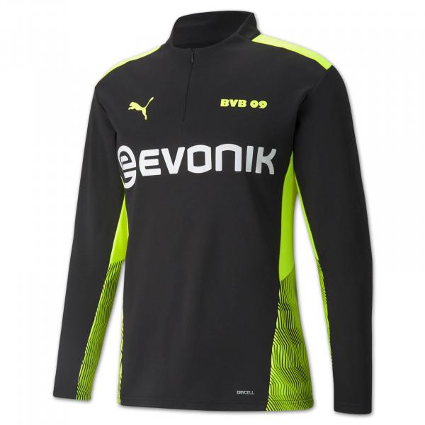 BVB training zip shirt 21/22 (black-neon)