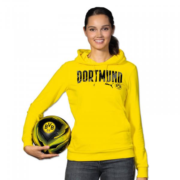 BVB Hoodie Dortmund 20/21 for Women (Yellow)