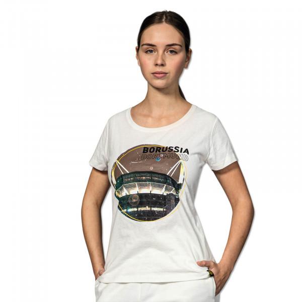 BVB Off-White Streetwear T-Shirt For Women
