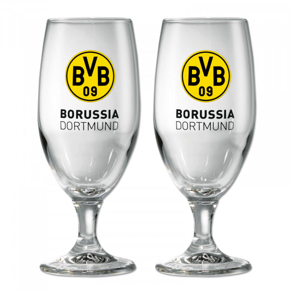 BVB Tulip Pilsner Beer Glass Emblem (2 glasses)