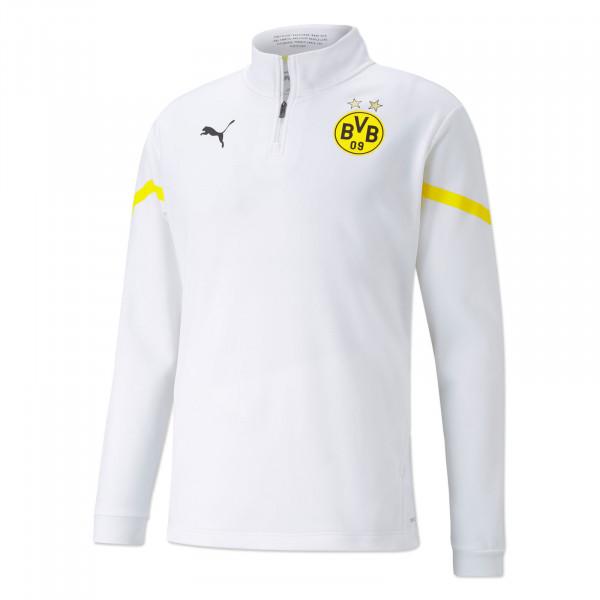 BVB Pre-Match Zip Shirt (White)