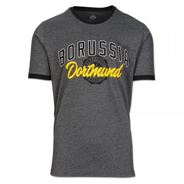 T-shirt du BVB, basique, pour hommes, gris foncé