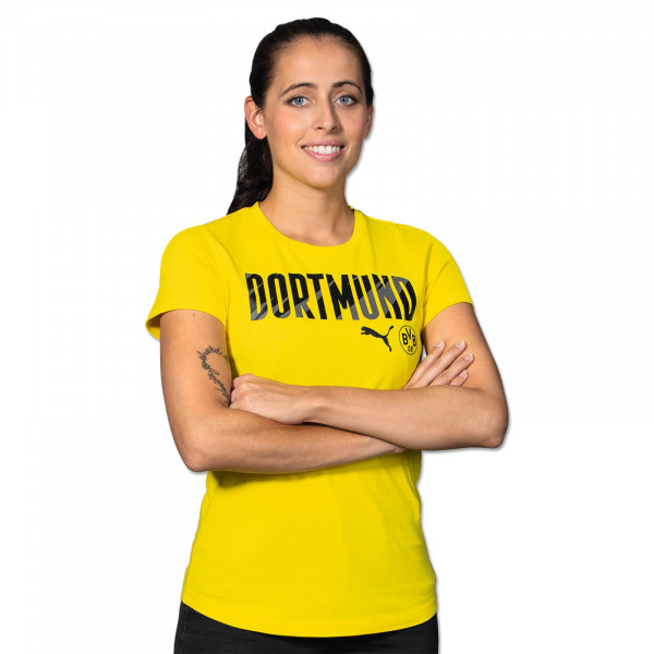 BVB T-Shirt Dortmund 20/21 for Women (Yellow)