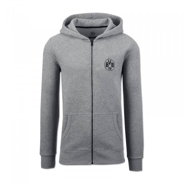BVB Kids Hooded Sweat Jacket Grey