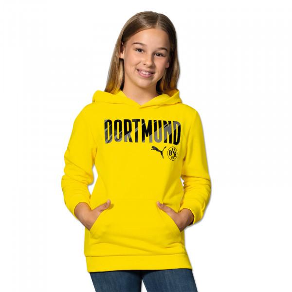 Sweat à capuche BVB Dortmund 20/21 pour enfants (jaune)