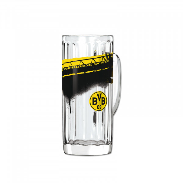 BVB verre à bière avec motif stade (0,5l)
