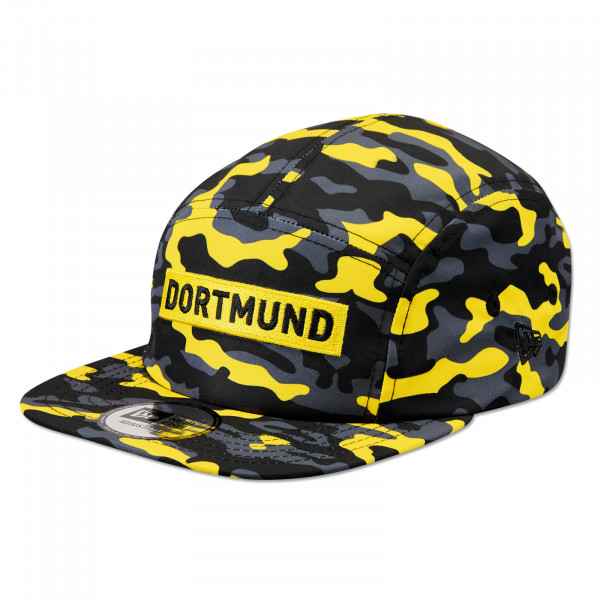 BVB Box Logo Camper Cap Camo (Yellow)