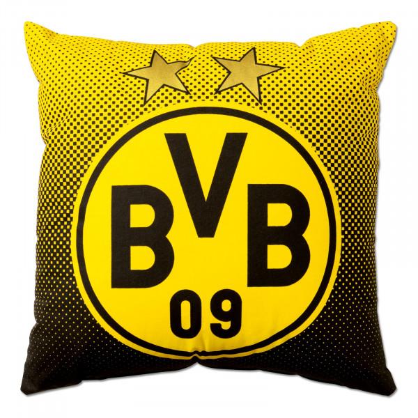 BVB pillow with emblem (40 x 40 cm)