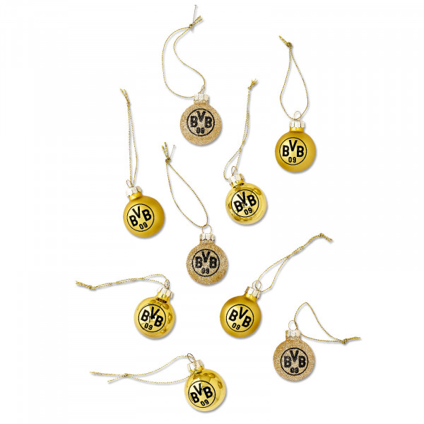 BVB Mini Christmas Tree Baubles (Set of 9)
