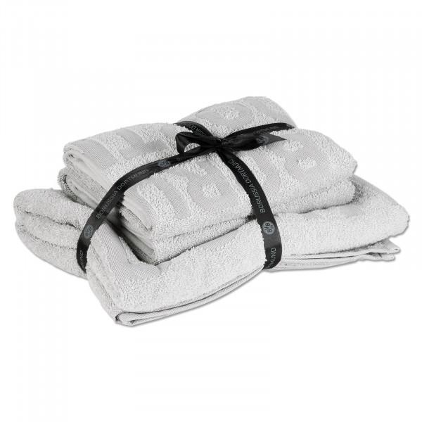 BVB towel set light grey 3 pieces